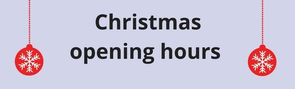 Christmas opening hours - Cameron